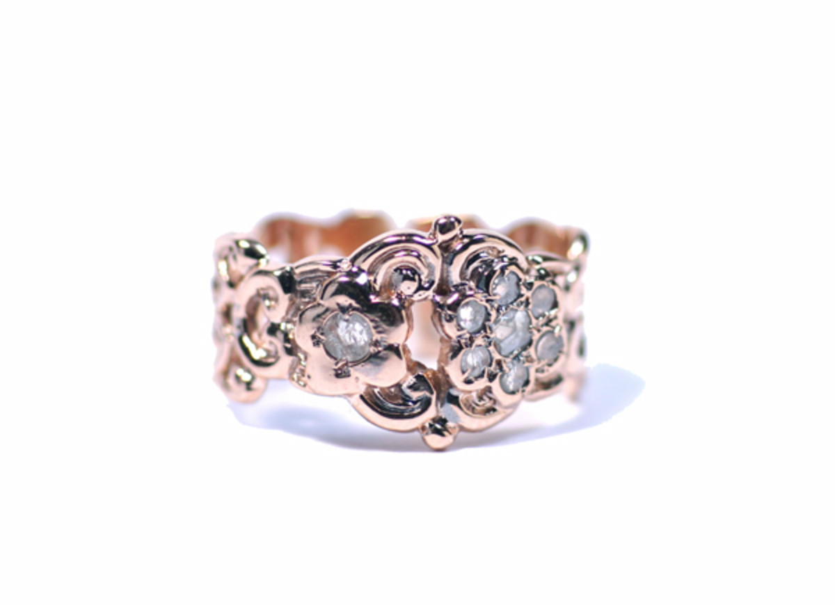 Woven ring with uncut diamonds from jewelryboutique.com