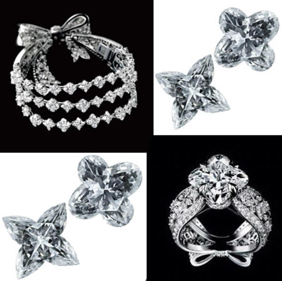 Exquisite flower monogram diamonds by Louis Vuitton - Les Ardentes Collection