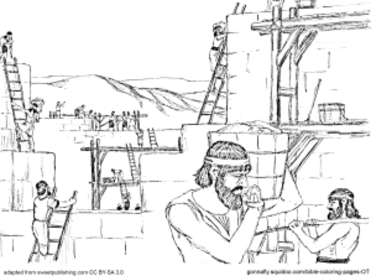 ezra and nehemiah coloring pages