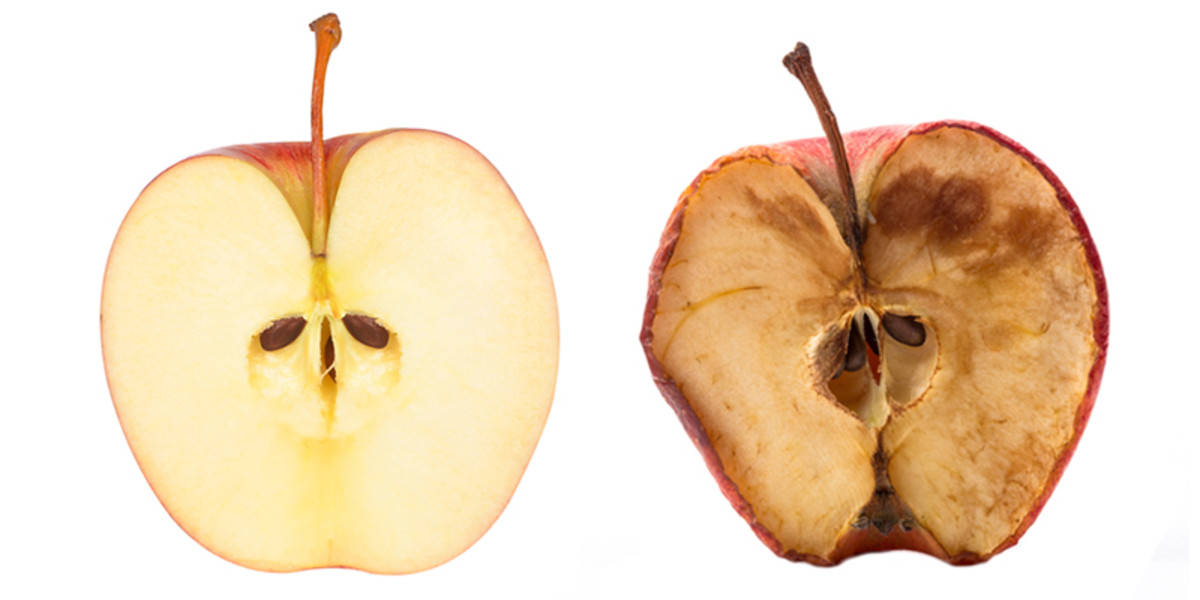Oxidation in fruit happens when the surface is exposed to air. An acid wash is an easy way to prevent or delay this process while you work.