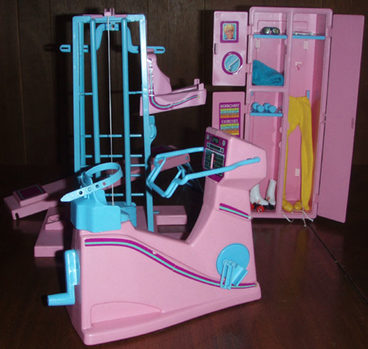 Barbie Doll Gym/Workout Equipment