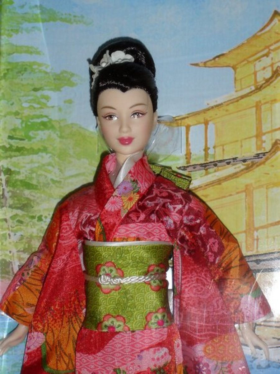 Asian Barbie in Traditional Dress