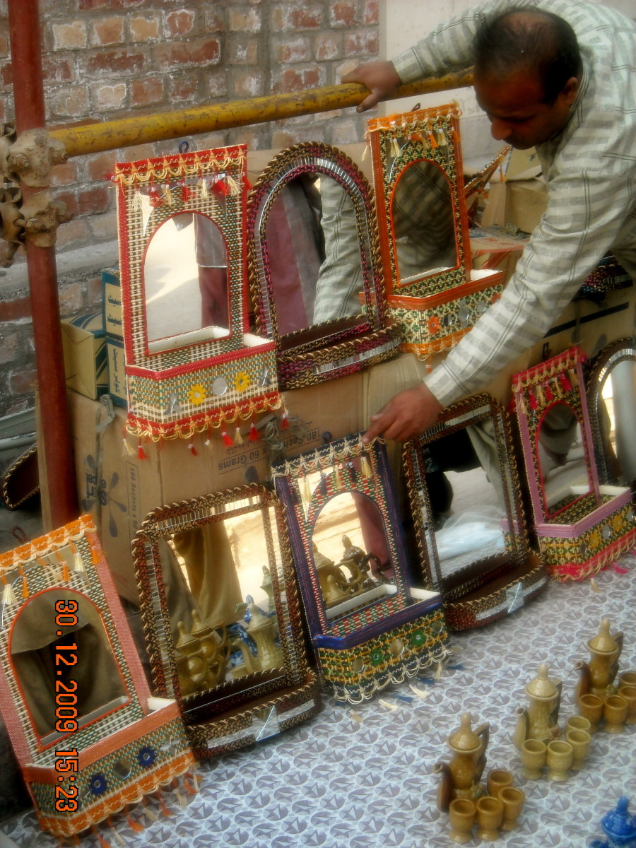 Ethnic mirrors - all locally hand made