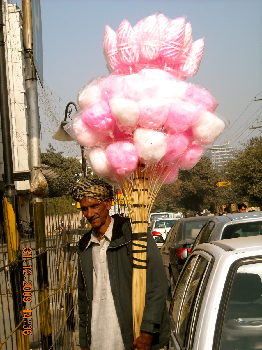The candy floss man.....