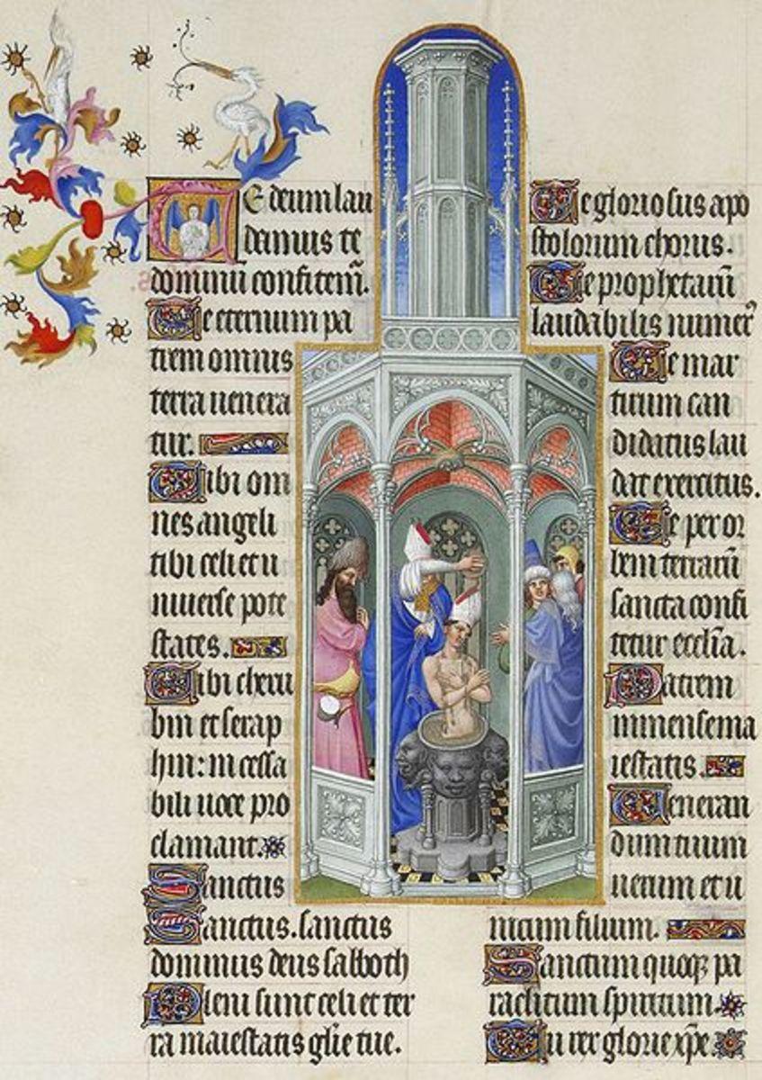 Folio 37 v; The Baptism of Saint Augustine