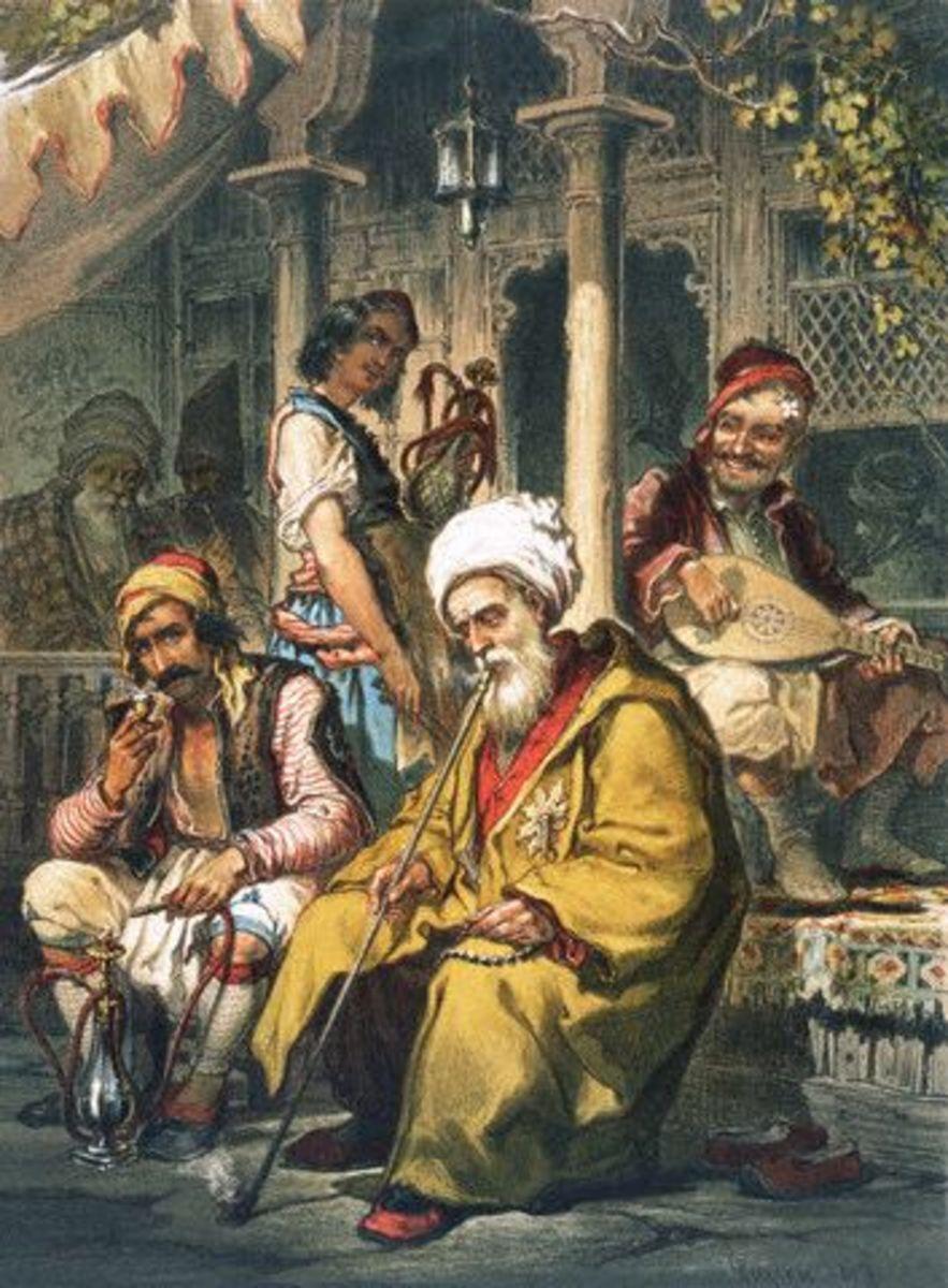 Preziosi, Amadeo (1816-1882) - Inside a Turkish Coffee House, 1858