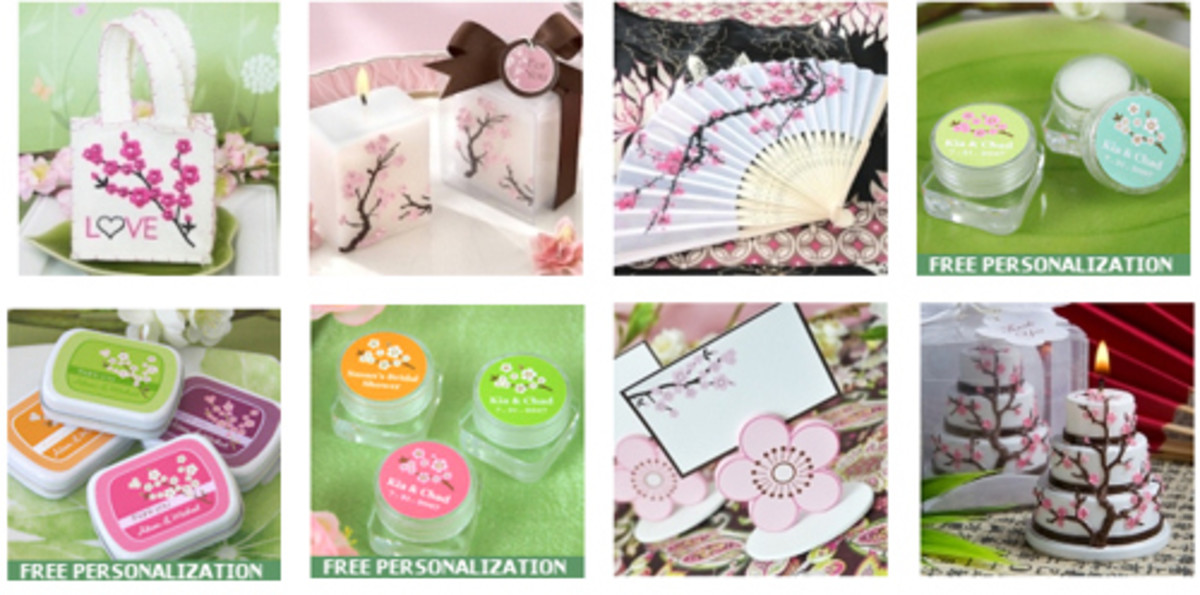 Cherry Blossom Themed Favors From Wedding Favors Unlimited