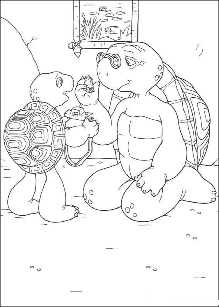Franklin the Turtle Free-Kids Coloring Pages Colouring Pictures to Print
