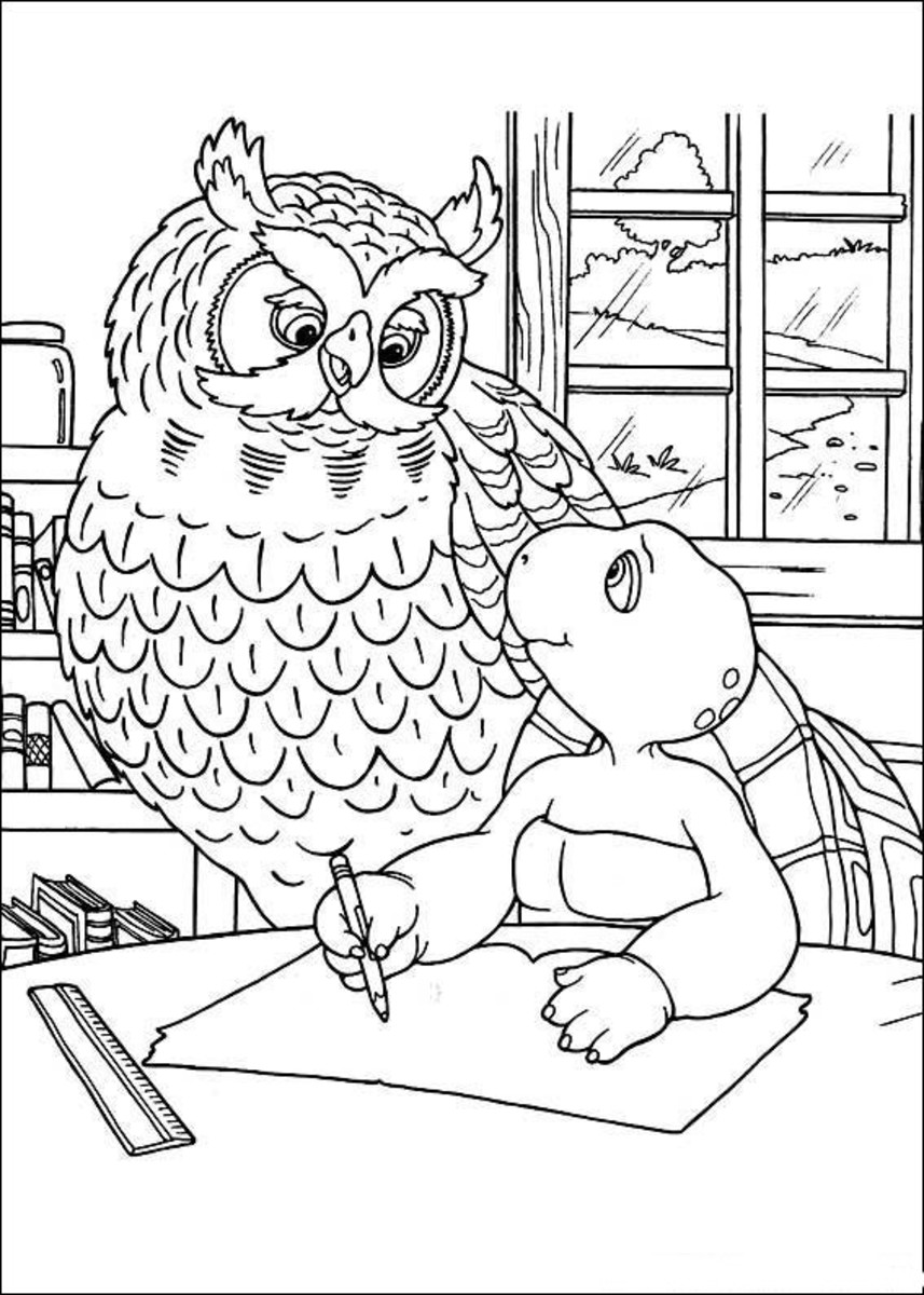 Franklin the Turtle Free-Kids Coloring Pages, Colouring Pictures to Print