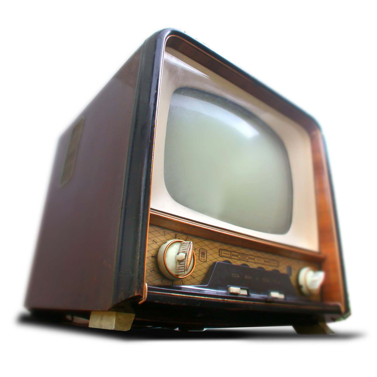 This is an early TV, before they got flat and big and really cheap.  This old model would cost around $100,000 in today's dollars (well, a lot more than you'd think, anyway).