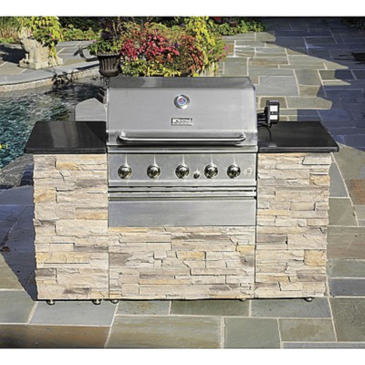 Outdoor kitchen Kenmore models can be assembled for as big or as small a grill island you desire starting with model 07116655000