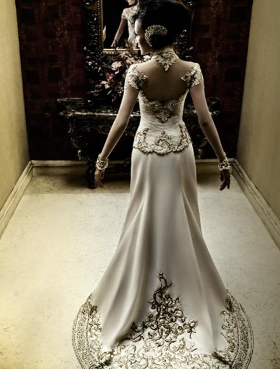 Artika Sari Dewi Kebaya's wedding dress courtesy of anneavantie.com