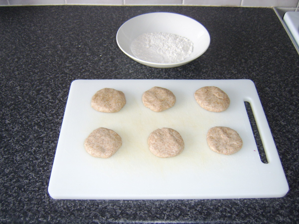 Chapatis Shaped and Ready to Roll