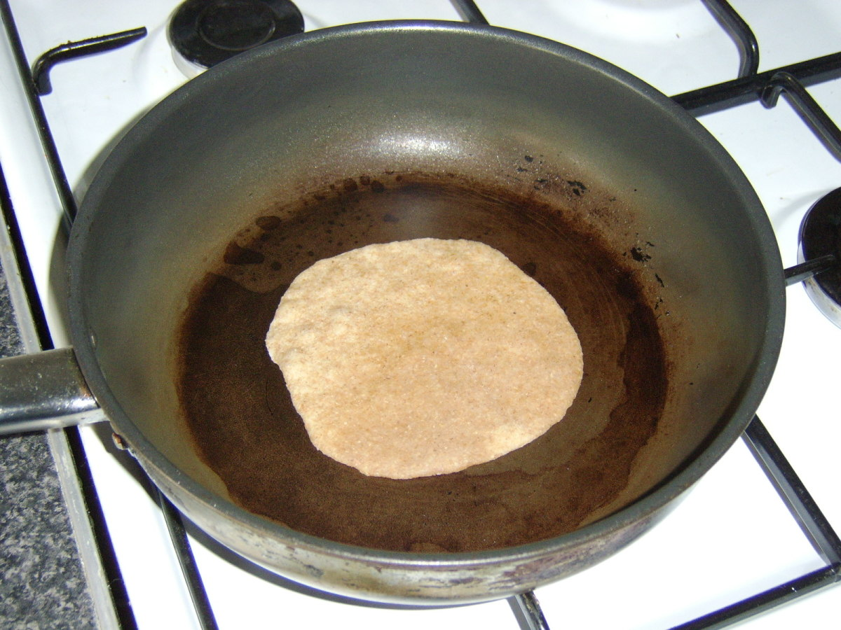 Chapati in Frying Pan