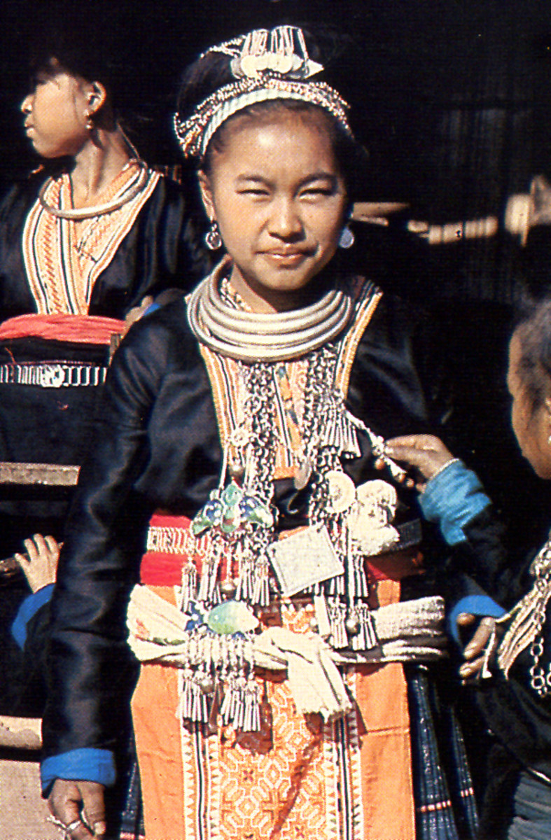 Hmong Girl in Traditional Tribal Jewelry