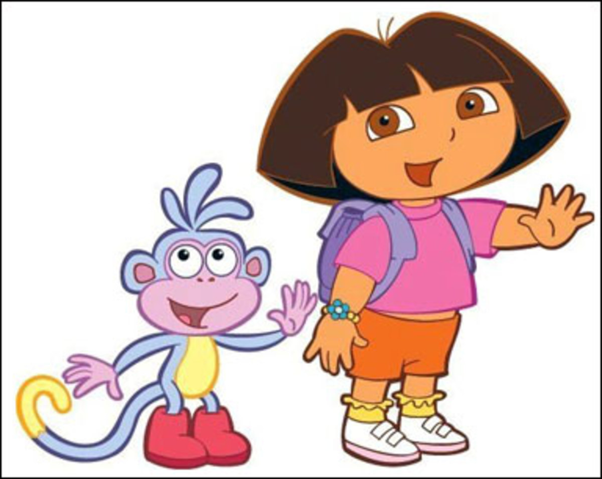 Dora Explorer Coloring Pages Color Example