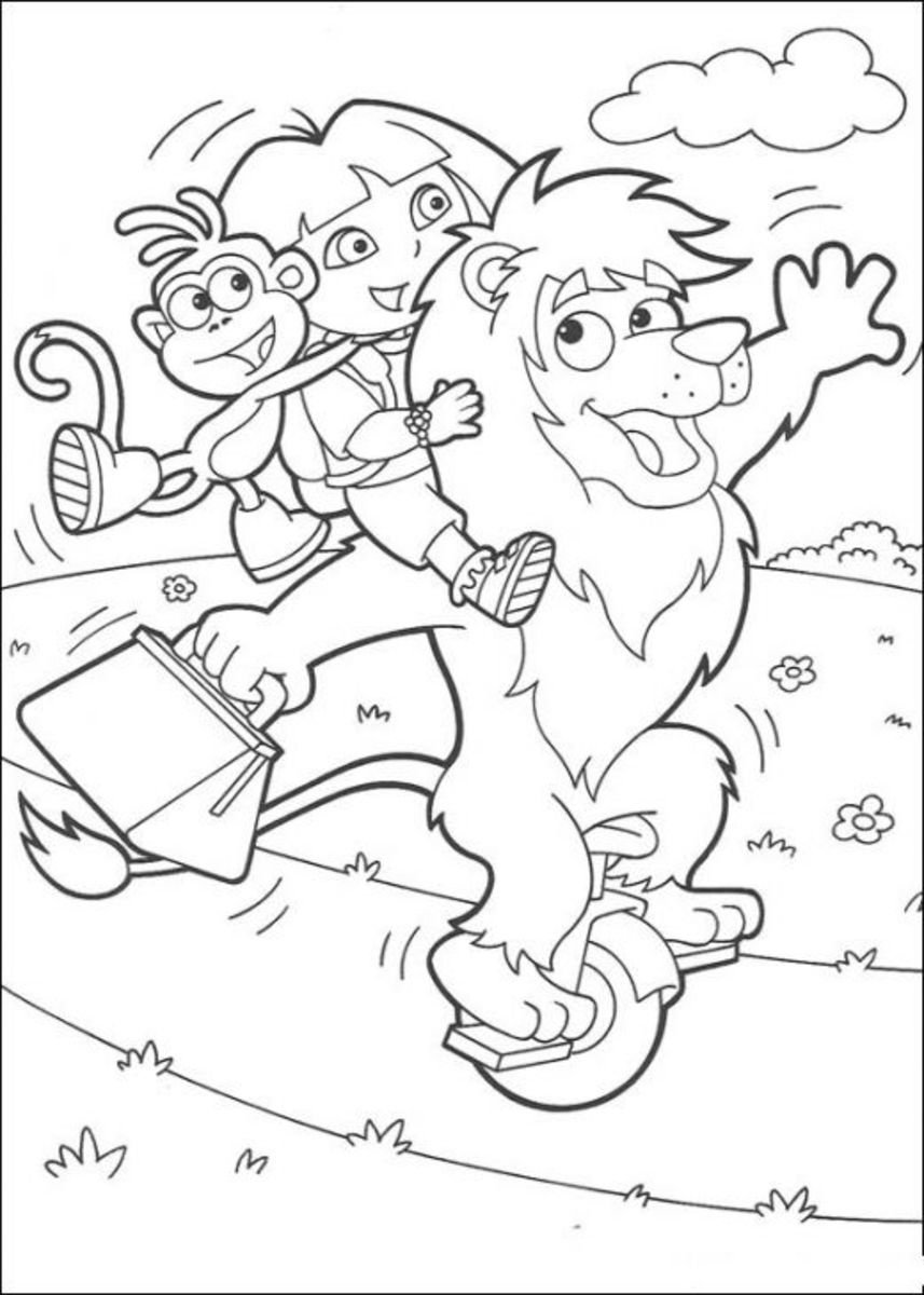 Dora the Explorer Kids Coloring Pages with Free Colouring Pictures to Print