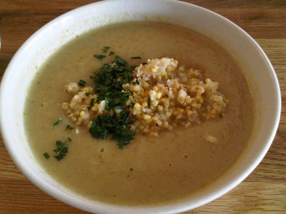 Cream Soup with Toasted Millet