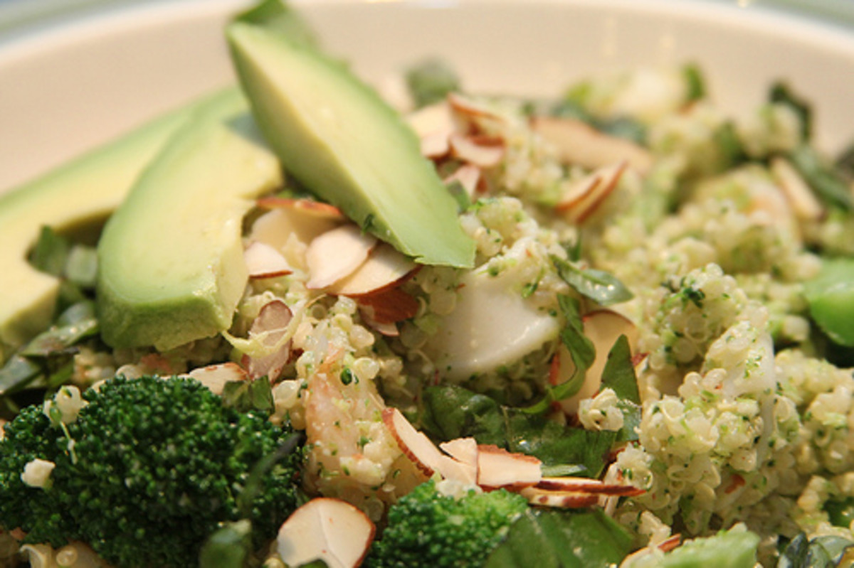 Quinoa with Broccoli and Avocado