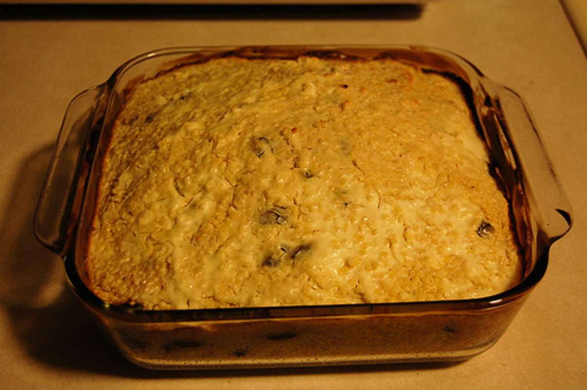 Millet Baked with Raisins, Sour Cream, and Sugar