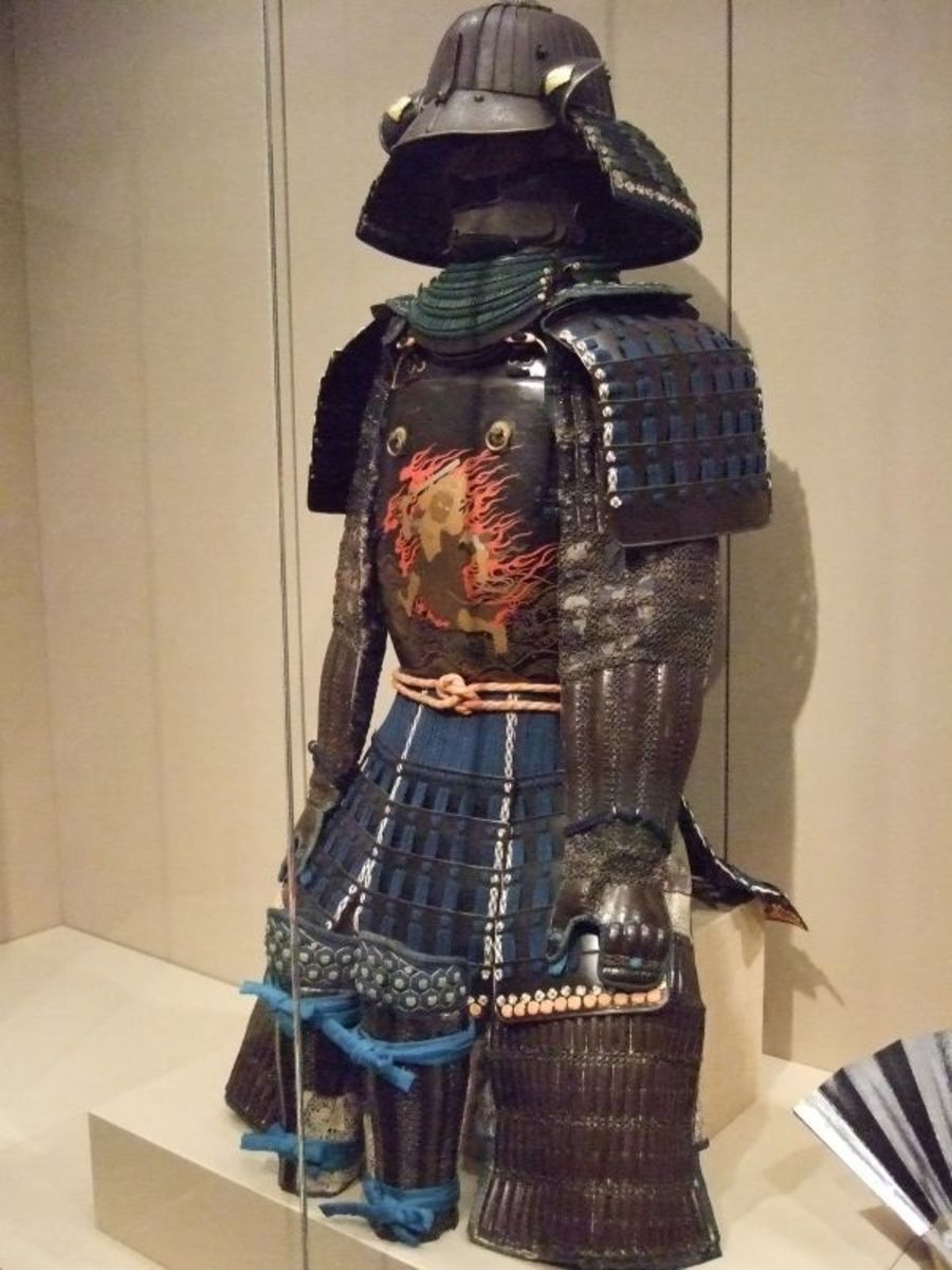 Suit of armor Edo period (1615-1868) Japan lacquered iron plates leather textile and silk cord by mharrsch