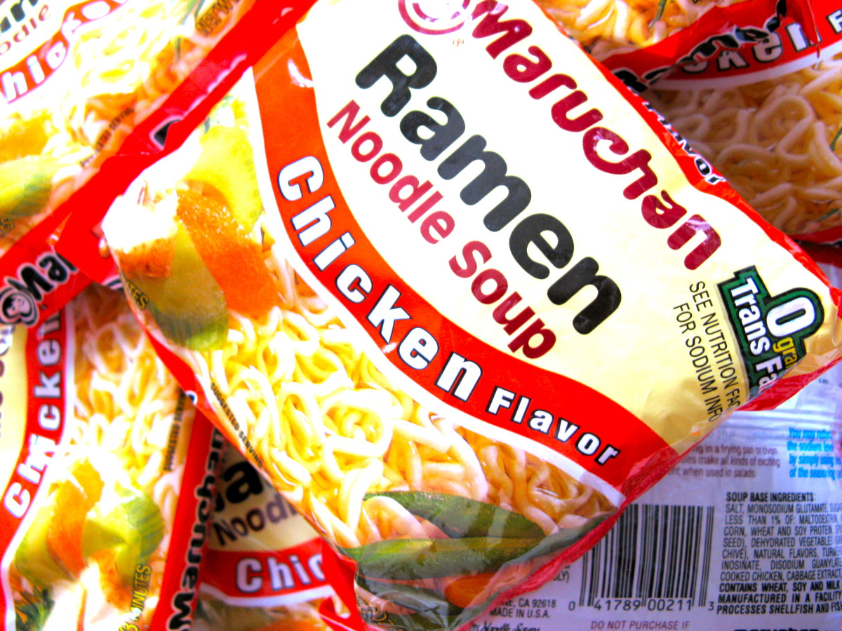 Ramen soups contain MSG as the second ingredient after salt!