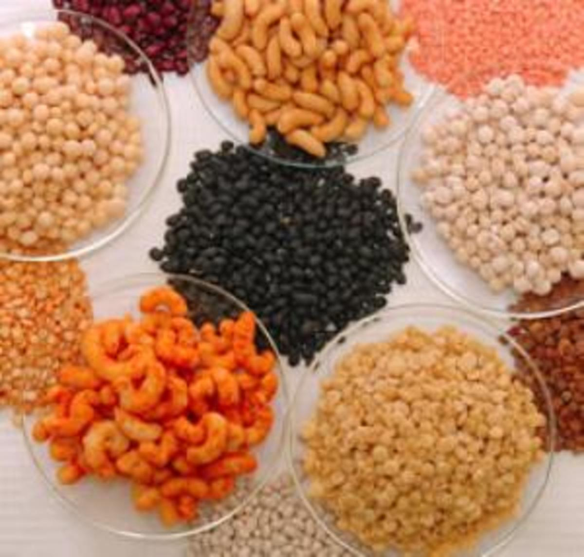 High protein snacks - Chick peas, dry peas, lentils and beans