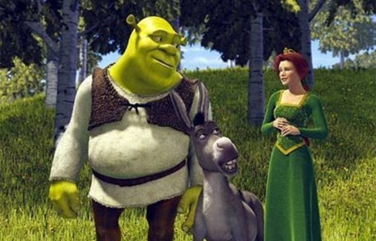What are some examples of satire in Shrek?
