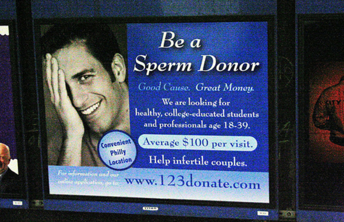Sperm Donation: Make $800 a month as a sperm donor