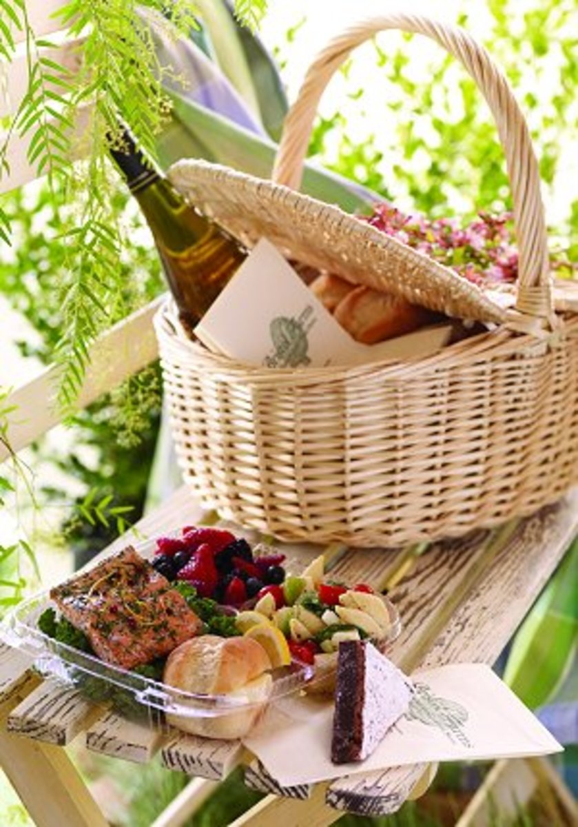 A gourmet picnic will be a real treat for Mom on Mother's day.