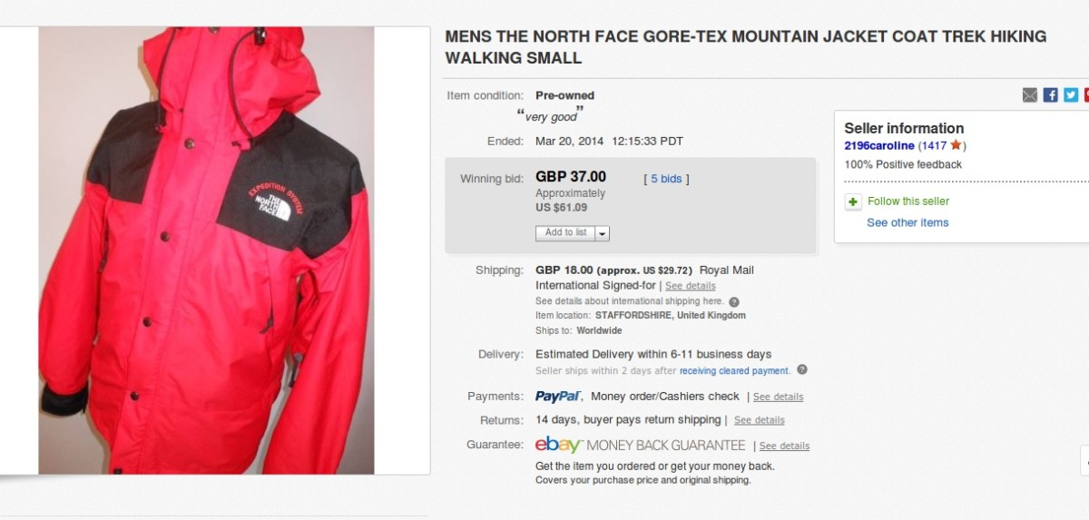 b5bd8b93e24d These Mountain Jackets are from the mid- 1990s and feature the words