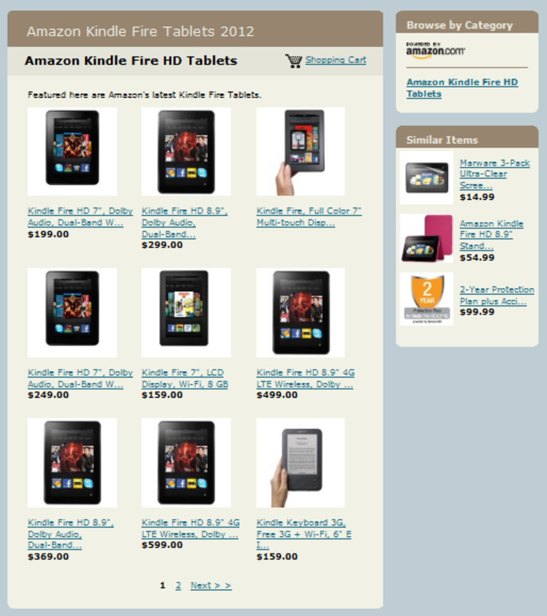 Amazon aStore Featuring Kindle Fire Tablets