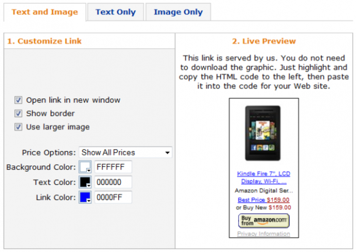 Amazon Product Link for Kindle Fire Tablet