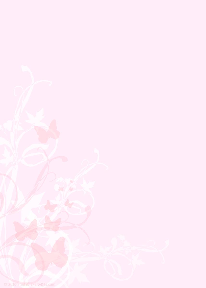 Pink butterflies Quinceanera announcment