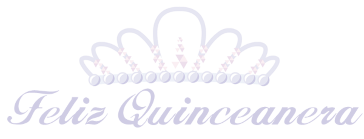Feliz Quinceaera tiara clip art with purple text
