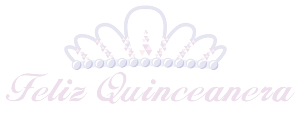 Free Feliz Quinceanera tiara clip art with pink text