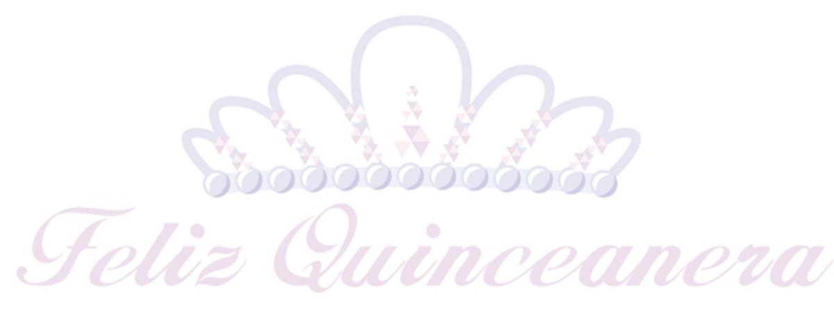 Free Feliz Quinceanera tiara clip art with pink text