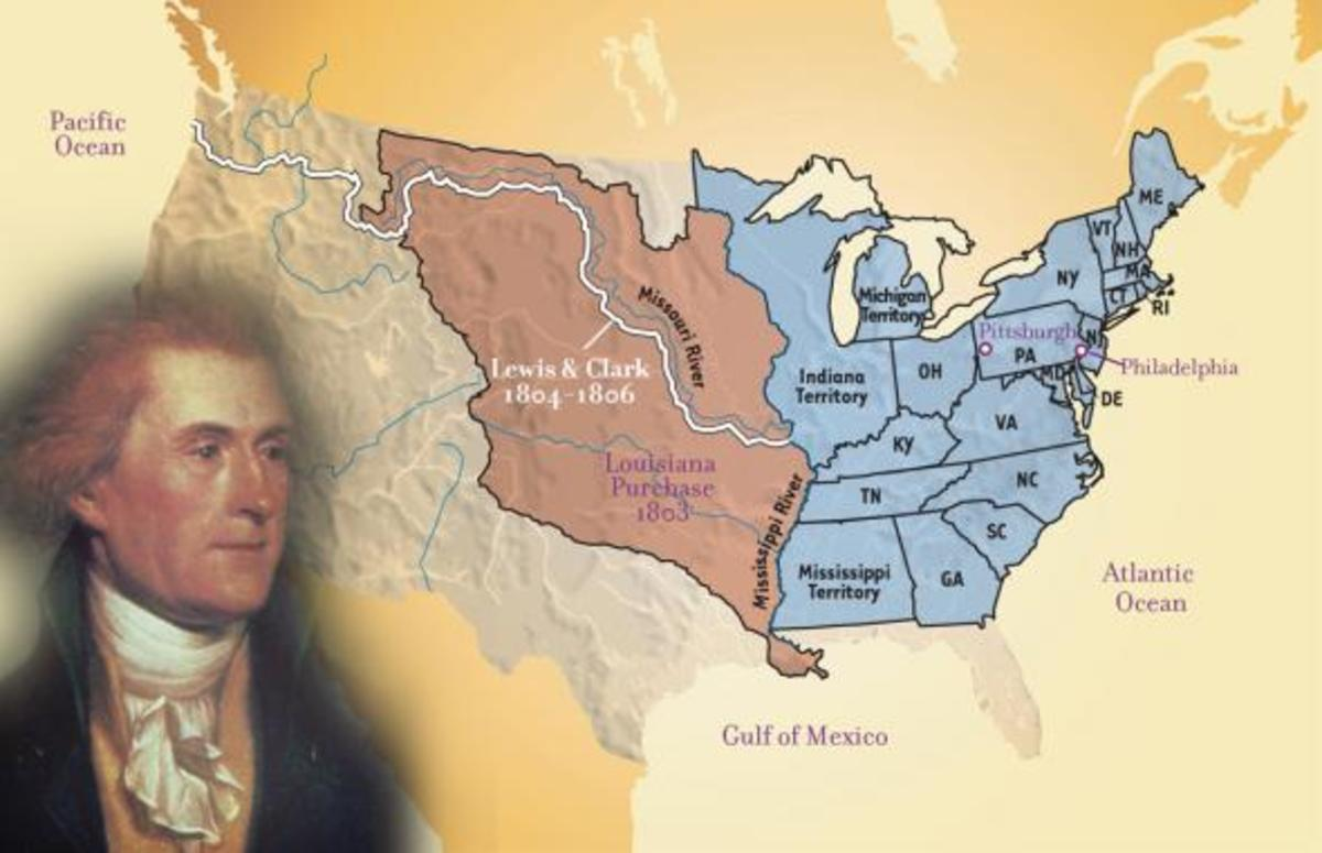 The purchase of this land from the French by Thomas Jefferson DOUBLED the size of the United States, overnight!