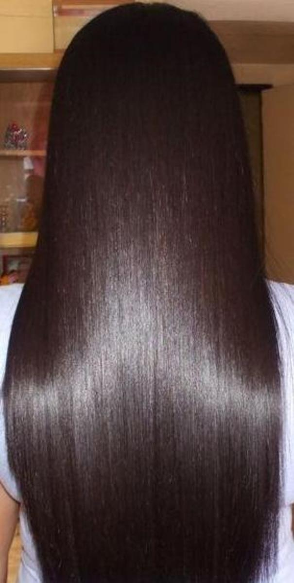 Rebonded Hair - shiny, straight, and soft