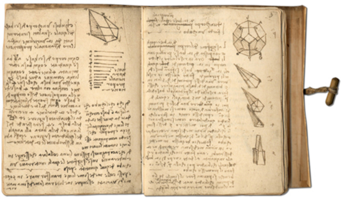 A GLIMPSE AT HIS NOTEBOOKS