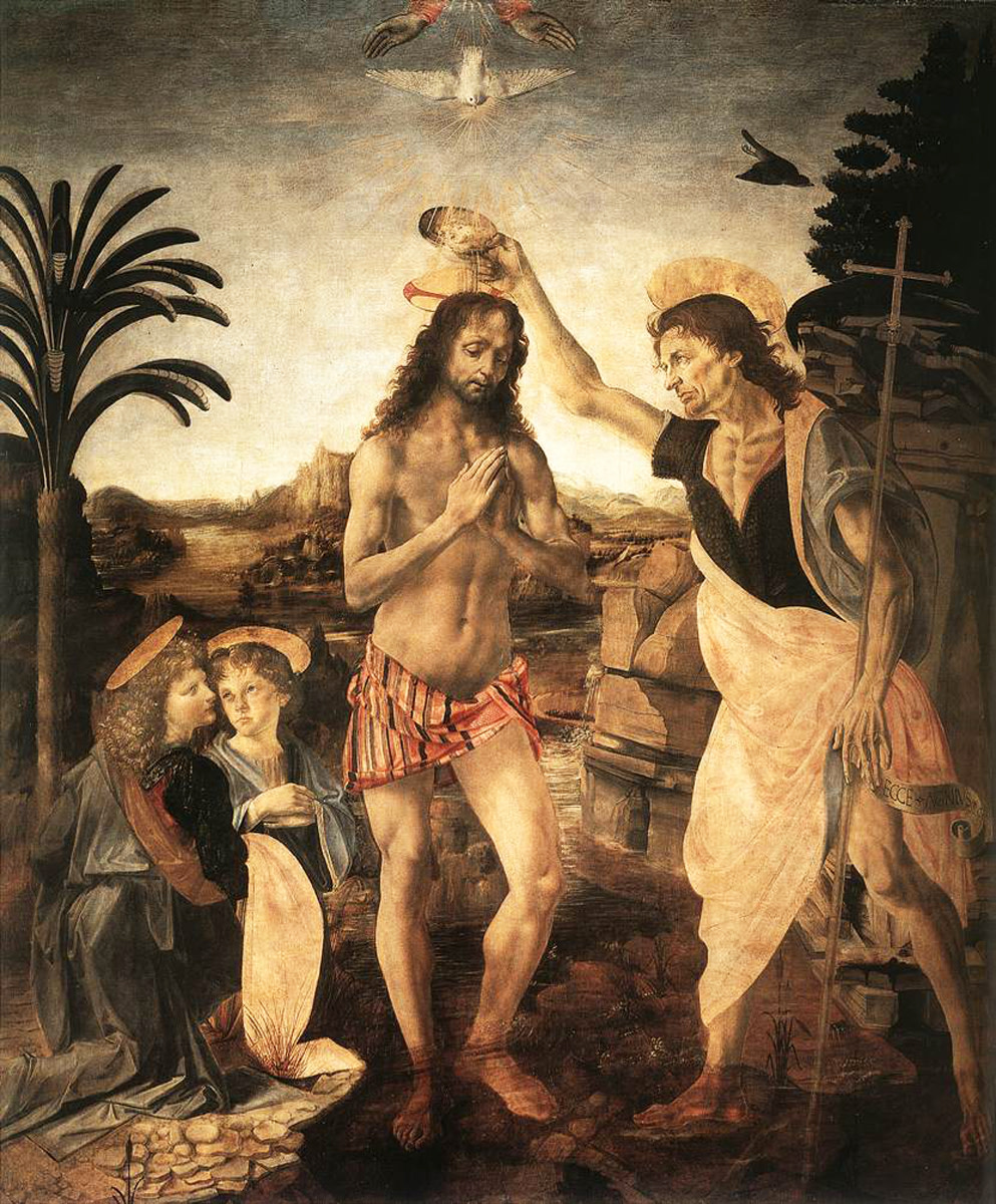 Baptism of Christ--Verricchio