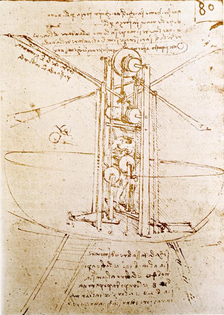 DA VINCI'S OBSESSION-- THE FLYING MACHINE