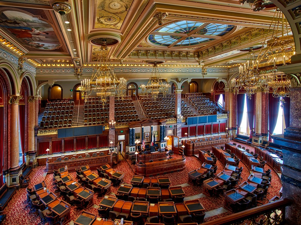Inside the state capital located in Des Moines, Iowa