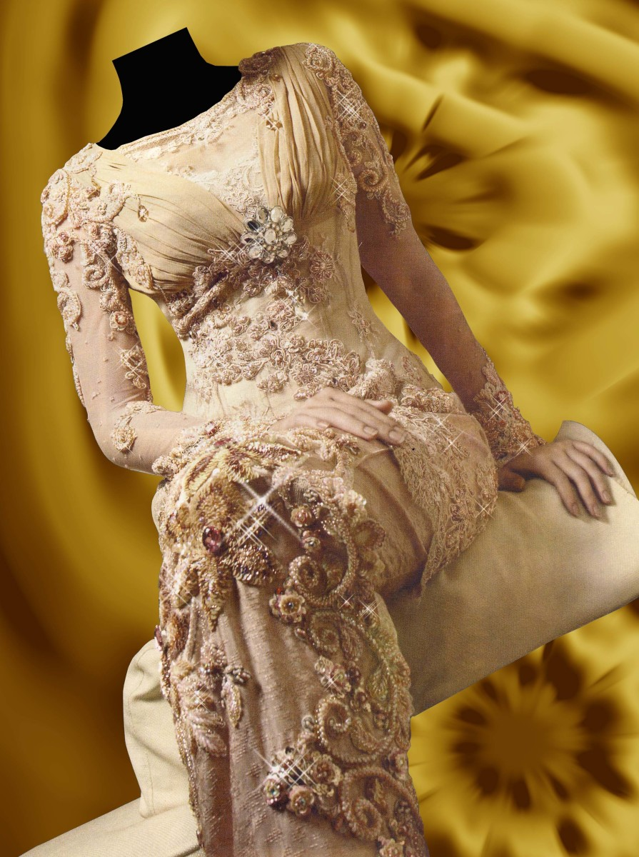 Wedding Kebaya with modern romantic touch