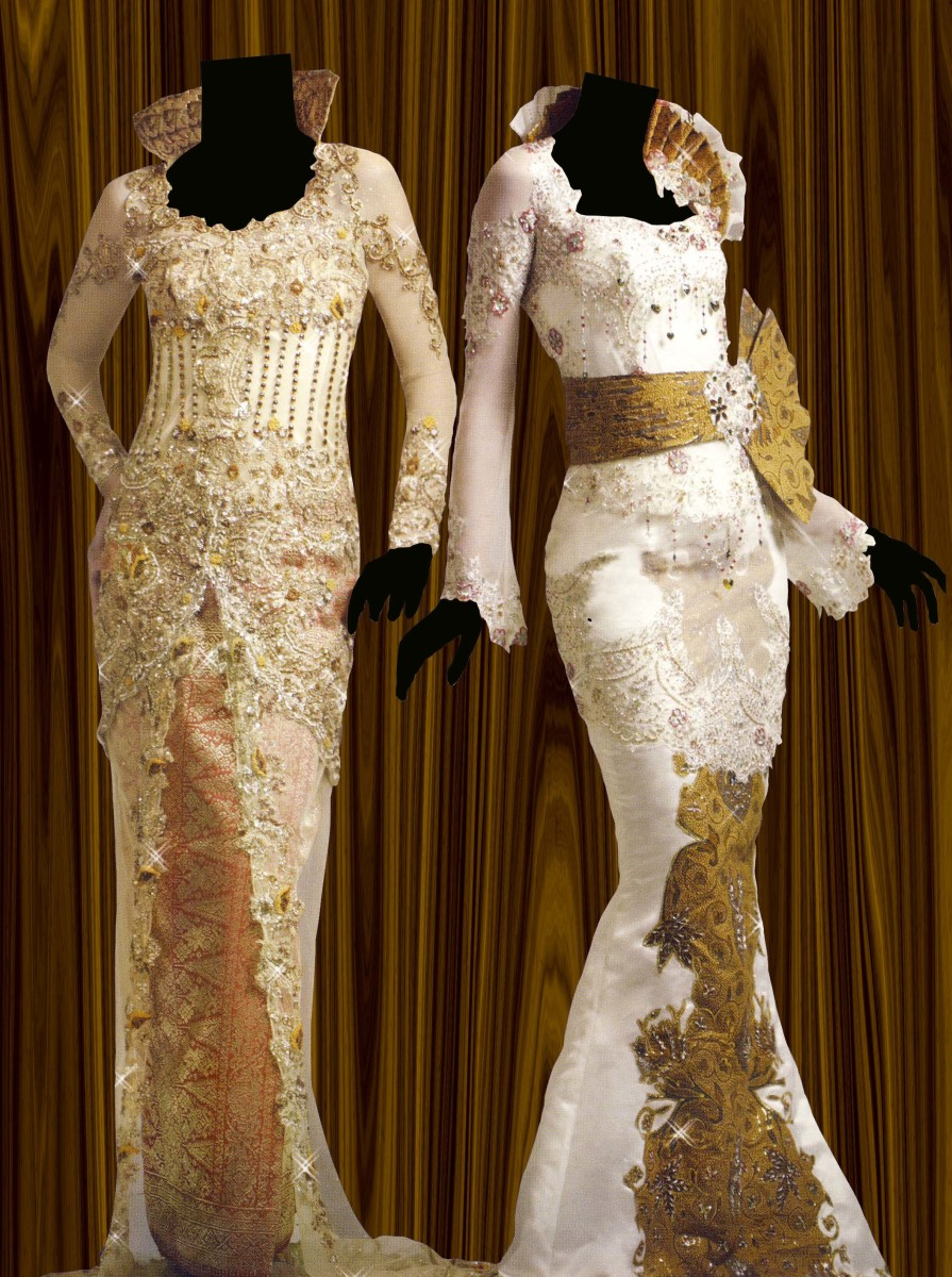 Modern design of Kebaya for Wedding with layer