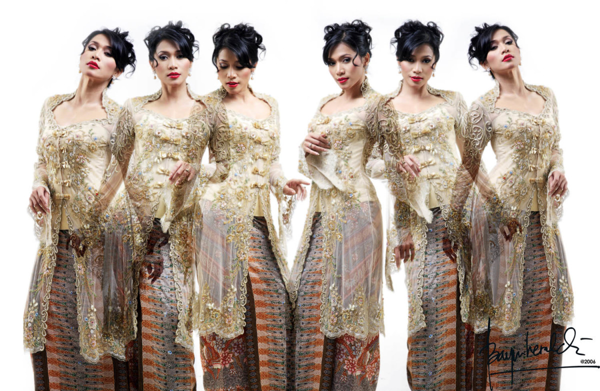 Traditional Kebaya with  modern hair styling