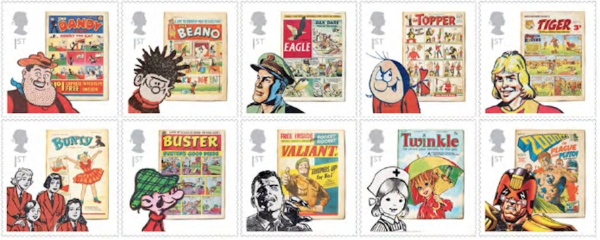 2012 set of British stamps remembering children's classic comics