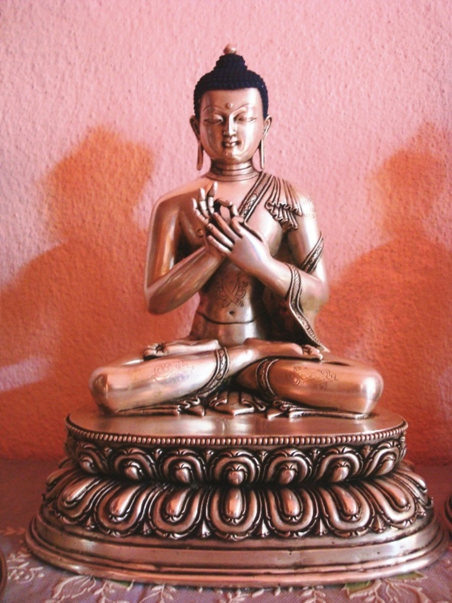 Buddha Statues Mudras – Meanings of five different types of Dhyani Buddha Mudras