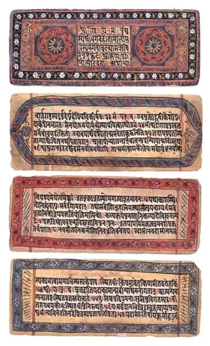 The Gita in Sanskrit.