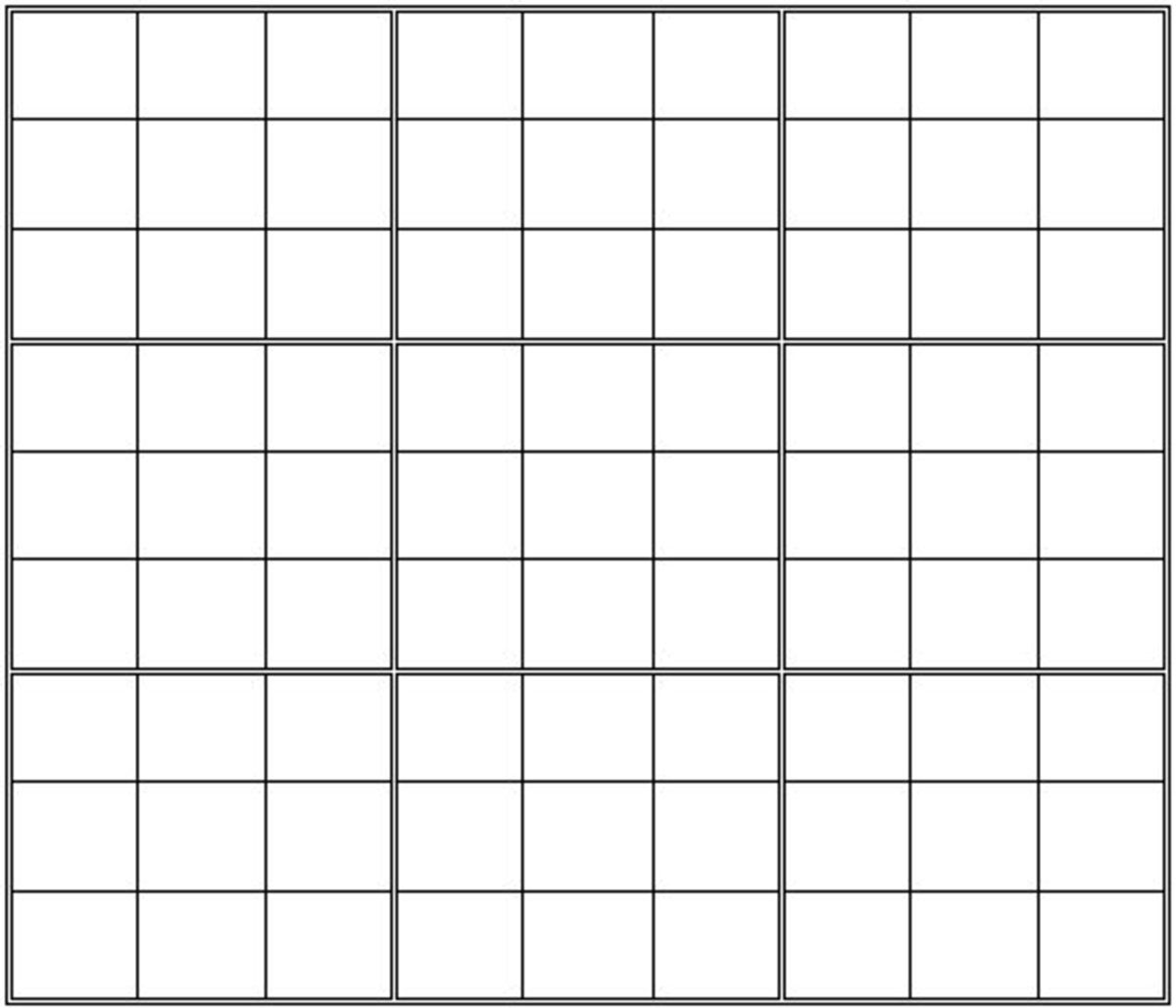 Here is a blank Sudoku grid you can print out. It is the work of this ...